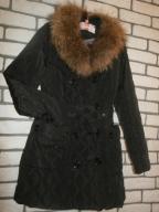 Marc Lauge płaszcz kurtka naturalne futerko XL