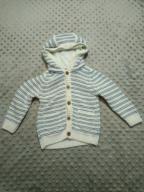 John Lewis - sweter z kapturem paski r.68 JAK NOWY