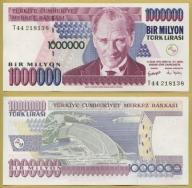 -- TURCJA 1000000 LIRASI 1970 (2002) T44 P213 UNC