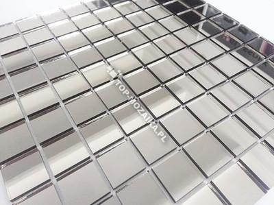 Mozaika Szklana Srebrna Z Lustra łazienkakuchnia