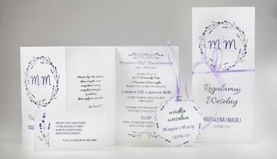 Zaproszenia ślubne Kolekcja Lawenda 5982861317 Oficjalne