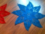 Serwetka świąteczna 46 cm średnica druty-czerwień