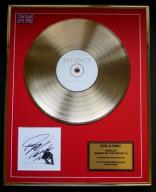 GEORGE MICHAEL Patience + autograf GOLD LP display