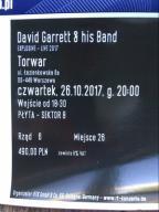 DAVID GARRETT 26.10.17 Warszawa #bilety#koncert