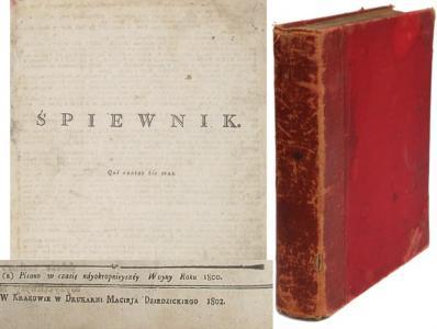 ŚPIEWNIK KOŚCIELNY KRAKÓW 1802   Tysiąc pieśni!