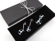 Piękny komplet cyrkonie perła kolczyki wisiorek
