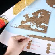 Mapa świata ZDRAPKA ANGIELSKA DUŻA 86x60 PREZENT