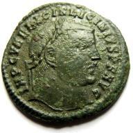 AC- LICYNIUSZ I (308-324), Heraklea, JOWISZ, 313r.