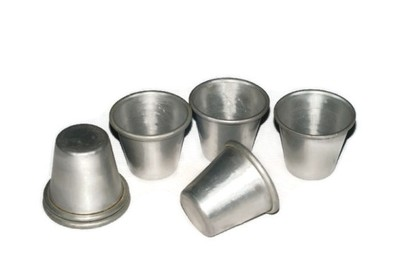 6 Mini Metalowych Osłonek Na Doniczki 6913679703