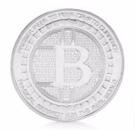 Bitcoin BTC srebrna moneta .+ kapsel - LIMITOWANA