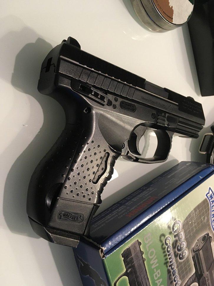 Wiatrówka Walther CP99 Compact BlowBack+GRATISY - 7049078670