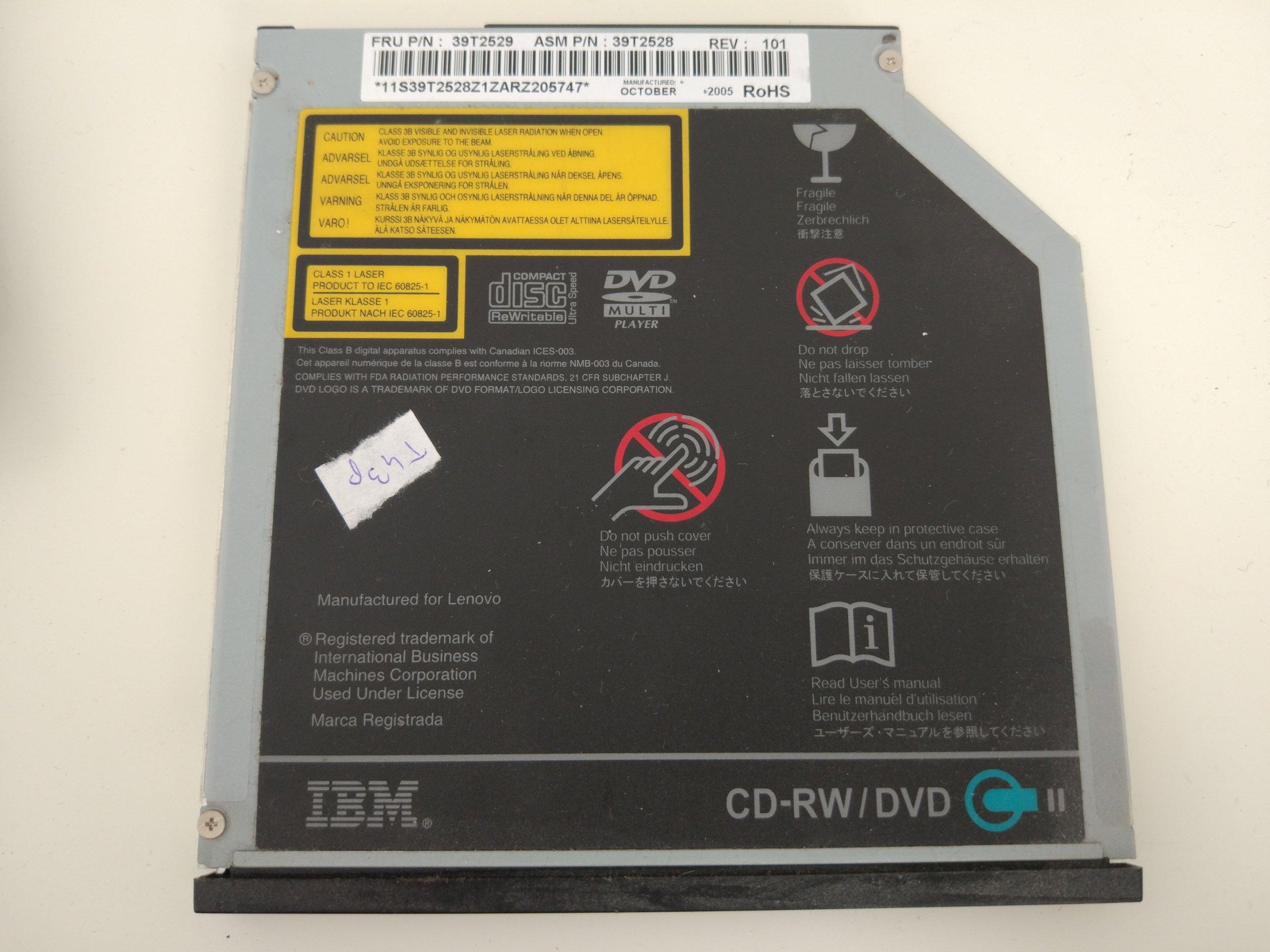 IBM THINKPAD T43p CD-RW/DVD FRU: 39T2529