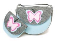 torebka z filcu portfelik motylek prezent kot sową