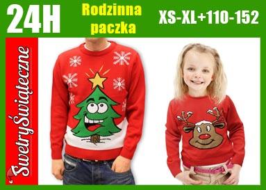 2X Swetr Świąteczny sweter TATA I JA PREZENT ŚWIĘT