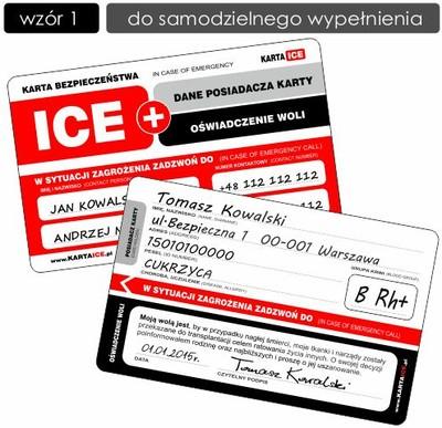 Oswiadczenie Woli Karta Ice Wzor 1 Dwustronny 5336251318