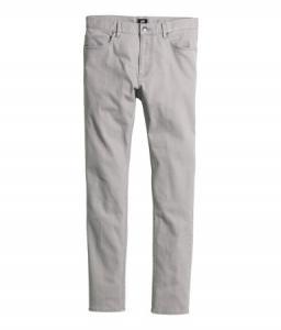 Spodnie z diagonalu H&M Szary roz.32