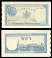 Rumunia 5000 lei 1945r. P-56 AU ( 1- )