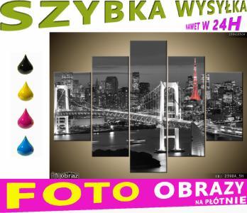 Obraz Tryptyk 150x105 Obrazy 5 Częściowe Miasto 5751114914