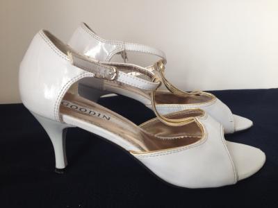 66d4761e Buty ślubne 37 bardzo wygodne białe złote ślub BCM - 5563570935 ...