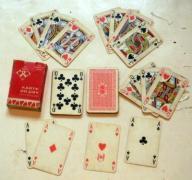 Karty do gry - jedna kompletna talia KZWP z 1975r