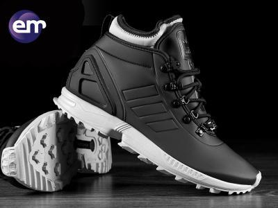 buty adidas zx flux black winter