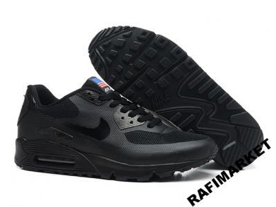 Nike Air Max 90 Hyperfuse Czarne Męskie r.41