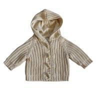 BeSquare - next ciepły sweterek kaptur 3-6 mc