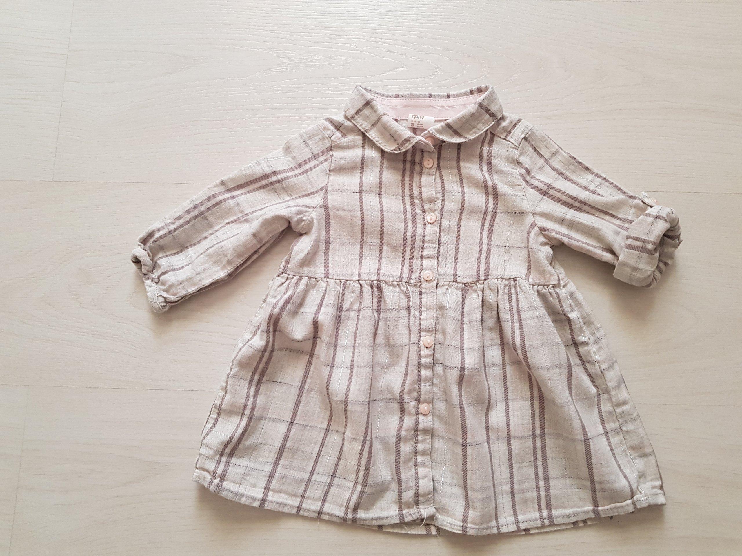 cf81782f9a sukienka koszula HM 68 pudrowy róż bdb - 7060532728 - oficjalne ...