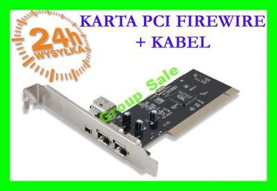 Karta Firewire Pci Kabel 4 Porty Fire Wire 5765630352