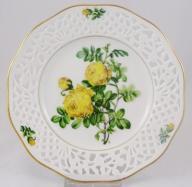 SCHUMANN ażurowy talerz dekoracyjny róże nr 9