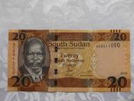 SUDAN 20 FUNTÓW 2015 r. STAN ( UNC- )