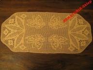 Serweta, podłużna morelowa, hand made,100/46