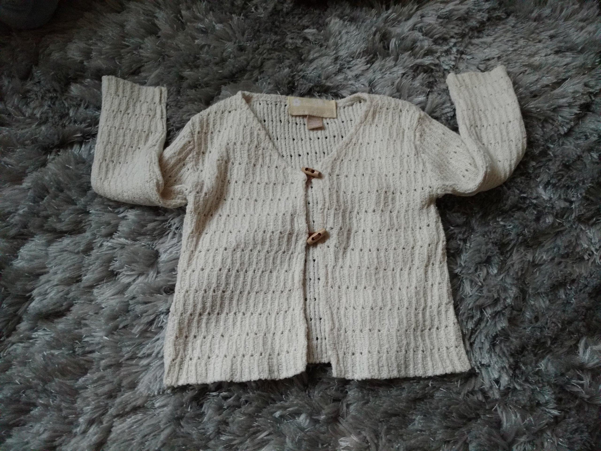 ORCHESTRA j.beż sweterek rozpinany 92-98 bdb