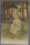 Dziecko Sarenka ok.1914r. LITOGRAFIA k410