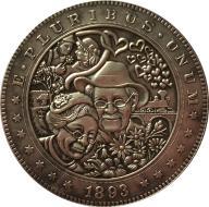 Hobo Nickel 1893 USA Morgan ONE DOLLAR