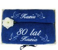2 Ręczniki z dedykacją PREZENT, URODZINY, ROCZNICA