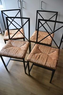 Metalowe krzesła Ikea Granas cztery krzesła 6837308341