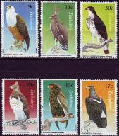 Zimbabwe 297-302**, 1984 e., Ptaki, 9E!