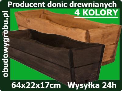 Donice Doniczki Skrzynki Balkonowe Drewniane