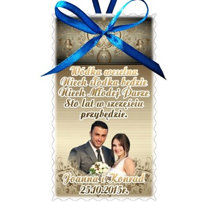 Zawieszki na wódkę weselną z waszym zdjęciem 10szt