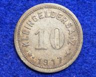 Niemcy 10 Pfennig 1917 r. Eislebbn. 260/11