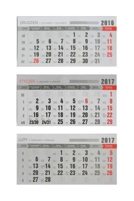 Kalendarz 2017 Trojdzielny Kalendarium Wymienne 6633551714 Oficjalne Archiwum Allegro