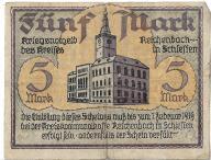 5 Mark Reichenbach - notgeld Dzierżoniów
