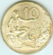10 KORON 1932 - SREBRO 10 gramów - śliczne !!