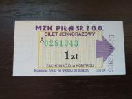 bilet u99 Piła CZG SA 2 odcienie