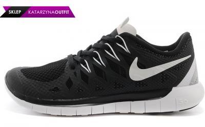 sale retailer d597b 3e644 Nike Free Run 5.0 642198 001 Czarne Białe 44
