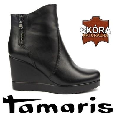 Tamaris 25034 Botki Na Koturnie 38 40 5713450436 Oficjalne Archiwum Allegro
