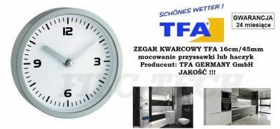 Zegar Do łazienki Kuchni Na Przyssawki 16cm Mały