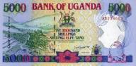 UGANDA 5000 Shillings 1993 P-37a - 1. WYDANIA UNC