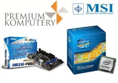 Intel CORE i5-3570 4x3,4GHz + MSI H61M-P20 DVI FV